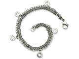 Chisel Stainless Steel Multiple Row W/discs 7.25in Bracelet style: SRB794725