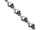 Chisel Stainless Steel Antiqued Skulls 8.5in Bracelet style: SRB79585