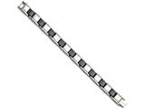 Chisel Stainless Steel Black Ceramic 8.5in Bracelet style: SRB79685