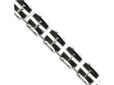 Chisel Stainless Steel Ip Black-plated and Polished 8.75in Bracelet style: SRB832875