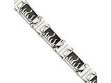 Chisel Stainless Steel Ip Black-plated W/ Polished Flames 8.5in Bracelet style: SRB83385