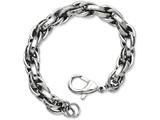 Chisel Stainless Steel Polished Oval Link 8.5in Bracelet style: SRB84585