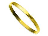 Chisel Stainless Steel Yellow Ip Plated Bangle style: SRB856GP