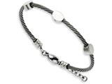 Chisel Stainless Steel Discs On Twisted Wire 7.5in W/ext Bracelet style: SRB85775