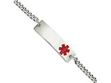 Chisel Stainless Steel Medical Jewelry 8.75in Bracelet style: SRB884875