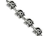Chisel Stainless Steel Antiqued Pirates W/hat 8.5in Bracelet style: SRB89985