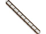 Chisel Stainless Steel Brown Ip-plated 8.75in Bracelet style: SRB902875