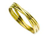 Chisel Stainless Steel Yellow Ip-plated Intertwined Bangles style: SRB911GP