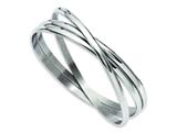Chisel Stainless Steel Polished Intertwined Bangles style: SRB911