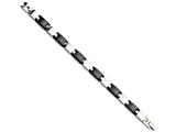 Chisel Stainless Steel and Black Ceramic 8.5in Bracelet style: SRB94885