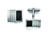 Chisel Stainless Steel Carbon Fiber Cuff Links style: SRC113