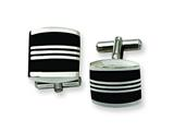 Chisel Stainless Steel Enameled Cuff Links style: SRC138