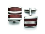 Chisel Stainless Steel Wood Cuff Links style: SRC140