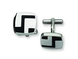 Chisel Stainless Steel Enameled Cuff Links style: SRC160