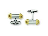 Chisel Stainless Steel 24k Gold Plating Cuff Links style: SRC171