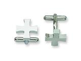 Chisel Stainless Steel Cross Cuff Links style: SRC172