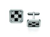 Chisel Stainless Steel Black And Grey Carbon Fiber Cuff Links style: SRC176