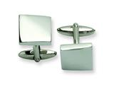 Chisel Stainless Steel Polished Cuff Links style: SRC185