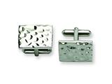 Chisel Stainless Steel Hammered Polished Cuff Links style: SRC190