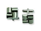 Chisel Stainless Steel Brushed Cuff Links style: SRC191