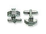 Chisel Stainless Steel Fancy X Cuff Links style: SRC192