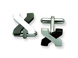 Chisel Stainless Steel Black-plating And Polished Cuff Links style: SRC193