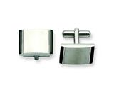 Chisel Stainless Steel Black Acrylic Cuff Links style: SRC196