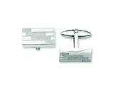 Chisel Stainless Steel Textured Cuff Links style: SRC201