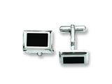 Chisel Stainless Steel Black Ip-plated Cuff Links style: SRC202