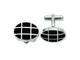 Chisel Stainless Steel Black Ip-plated Cuff Links style: SRC203