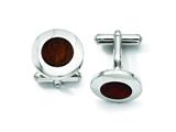 Chisel Stainless Steel Wood Inlay Cuff Links style: SRC205