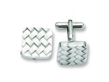 Chisel Stainless Steel Weave Design Cuff Links style: SRC207