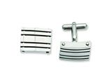 Chisel Stainless Steel Polished Cuff Links style: SRC208