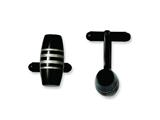 Chisel Stainless Steel Black Ip-plated Cuff Links style: SRC217