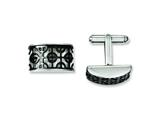 Chisel Stainless Steel Fancy Black Ip-plated Cuff Links style: SRC220