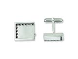Chisel Stainless Steel Antiqued Edge Brushed Cuff Links style: SRC222