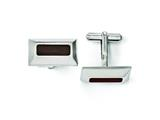 Chisel Stainless Steel Wood Inlay Cuff Links style: SRC228