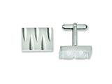 Chisel Stainless Steel Brushed and Polished Cuff Links style: SRC235