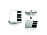 Chisel Stainless Steel Polished Enameled Cuff Links style: SRC262