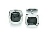 Chisel Stainless Steel Polished Hematite Cuff Links style: SRC270