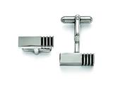 Chisel Stainless Steel Polished Antiqued Inlay Cuff Links style: SRC288