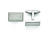 Chisel Stainless Steel Polished And Matte Cuff Links style: SRC289