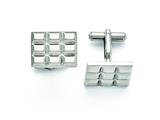 Chisel Stainless Steel Grooved And Polished Cuff Links style: SRC291