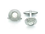 Chisel Stainless Steel Mother Of Pearl Polished Cuff Links style: SRC294