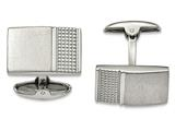 Chisel Stainless Steel Brushed/polished Textured Cuff Links style: SRC306