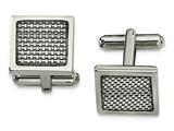 Chisel Stainless Steel Grey Carbon Fiber Cuff Links style: SRC360