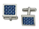 Chisel Stainless Steel Blue Carbon Fiber Cuff Links style: SRC361