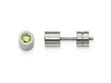 Chisel Stainless Steel Cz May Birthstone Polished Post Earrings style: SRE1001