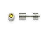 Chisel Stainless Steel Cz Nov Birthstone Polished Post Earrings style: SRE1002