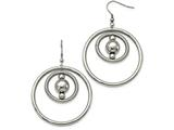 Chisel Stainless Steel Polished And Textured Shepherd Hook Earrings style: SRE1006